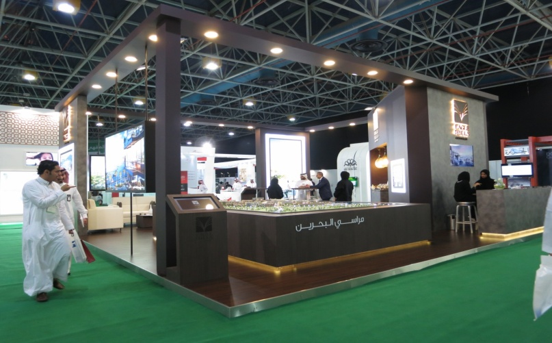 Bahraini Developer Marasi Bahrain was exhibiting its latest project.