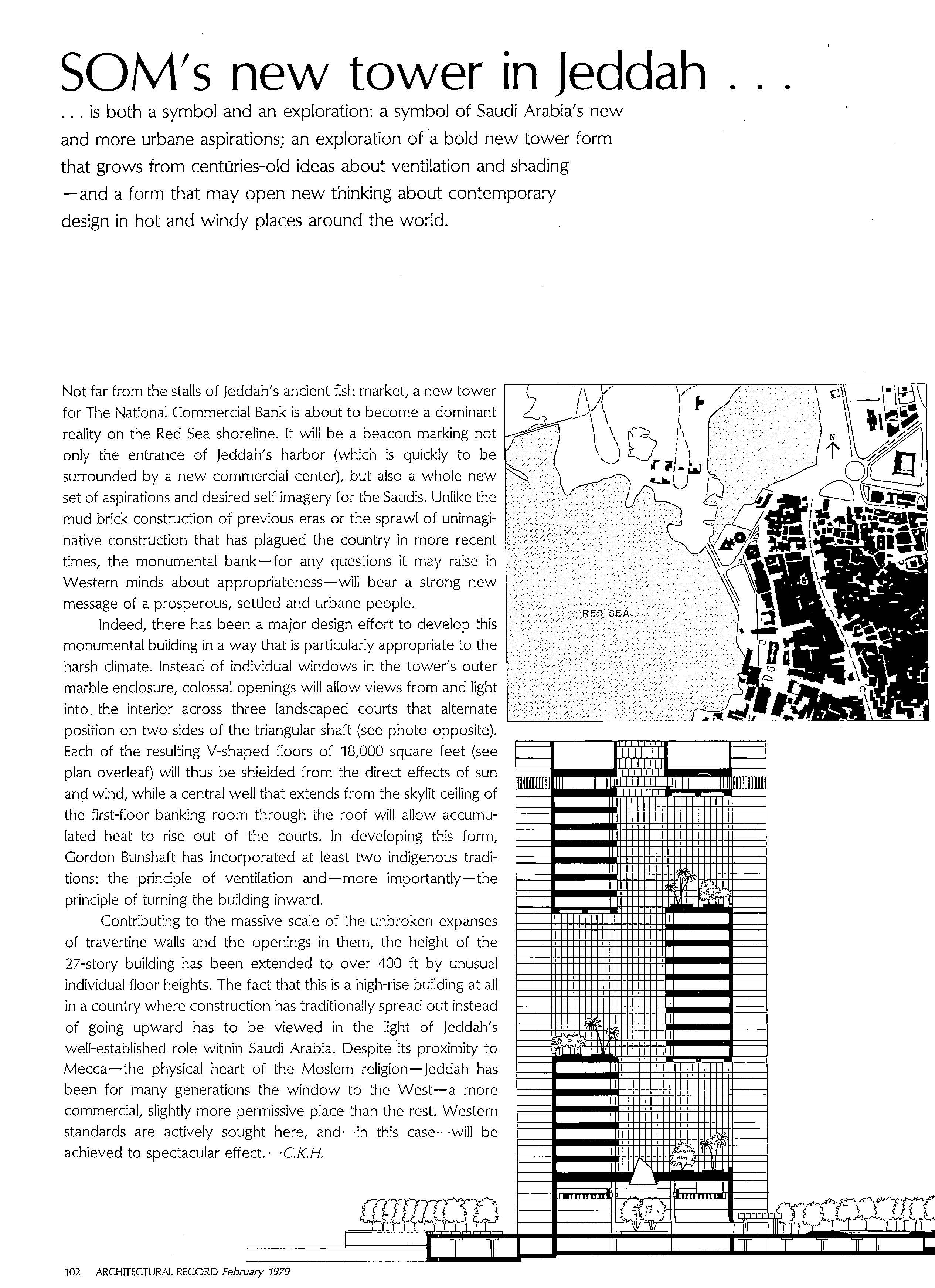SOM New Tower in Jeddah_ from Architecture Record_1979-02-2_Page_1
